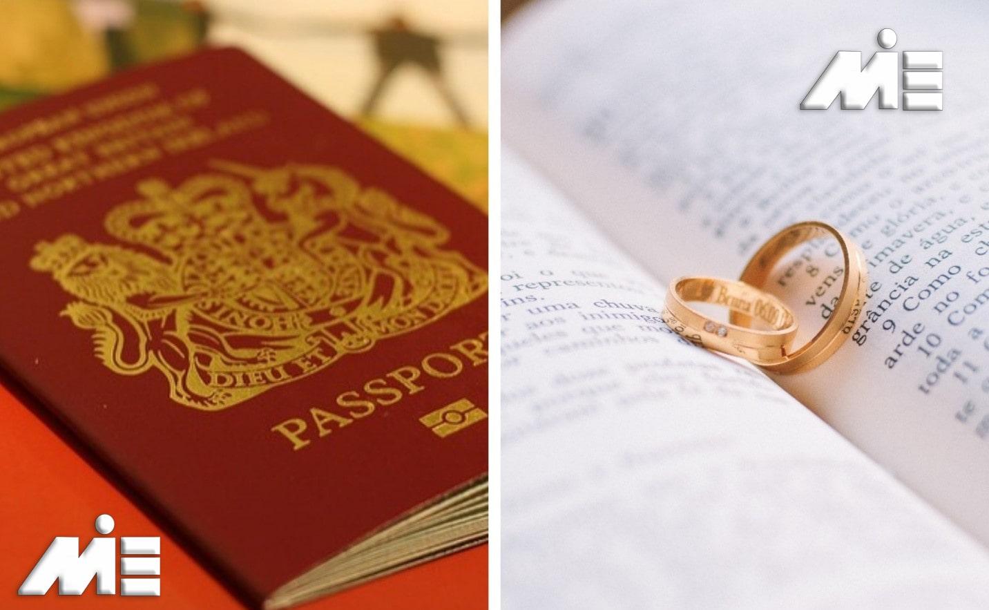 ازدواج در انگلستان - اخذ اقامت و تابعیت انگلستان از طریق ازدواج - ازدواج در انگلستان