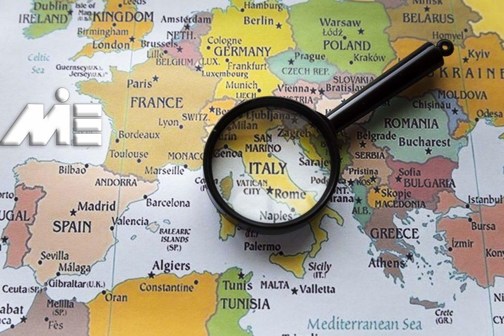 نقشه ایتالیا - ایتالیا کجاست؟ - مهاجرت به ایتالیا - تحصیل در ایتالیا