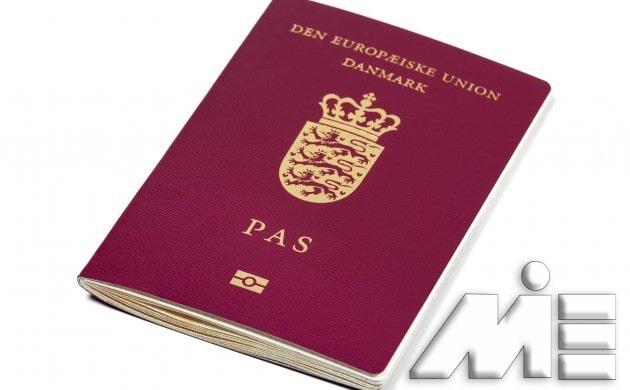 پاسپورت دانمارک - تصویر جلد پاسپورت دانمارک - تابعیت دانمارک - شهروندی دانمارک