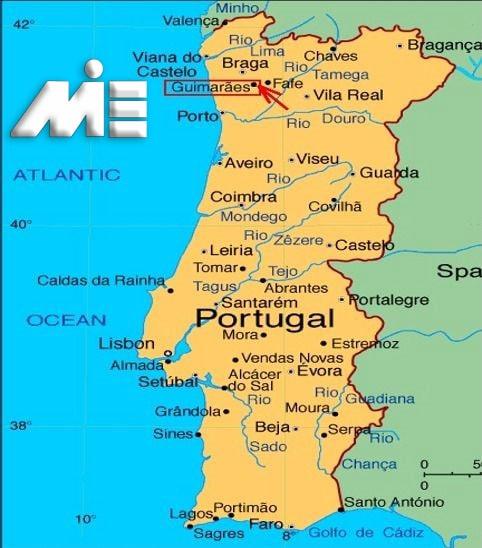 نقشه پرتغال - پرتغال کجاست؟ - مهاجرت به پرتغال - اقامت پرتغال