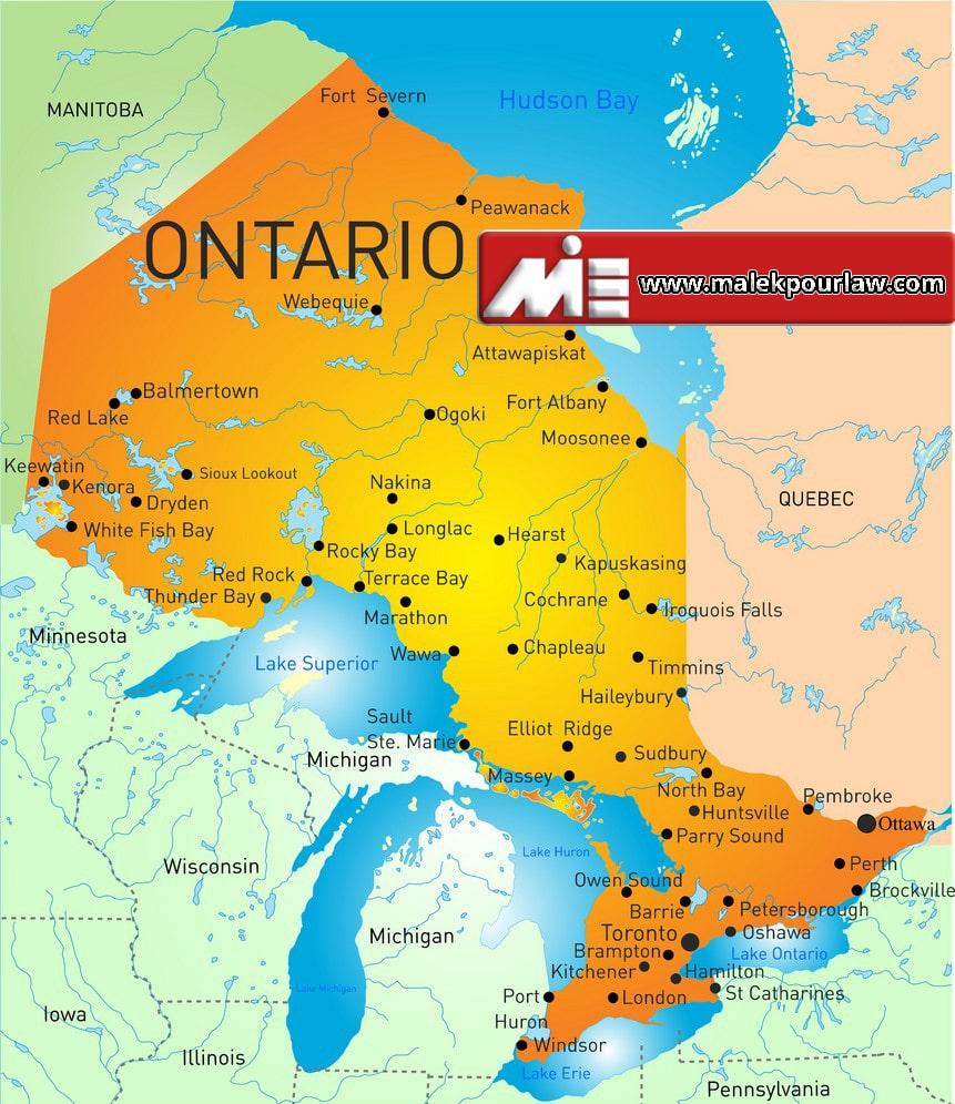 اونتوریو - آنتاریو - آنتاریو کجاست؟ - نقشه اونتوریو - اونتوریو کجای کاناداست؟