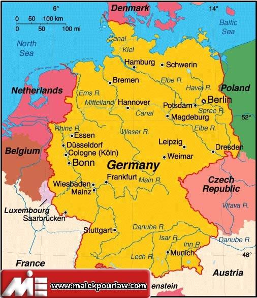 آلمان - نقشه آلمان